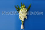 Dendrobium Bouquet: 3 stems w/ leaves